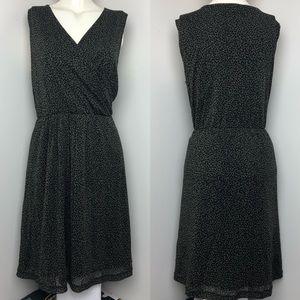 S.OLIVER • Green Cheetah Print Wrap Midi Dress •14